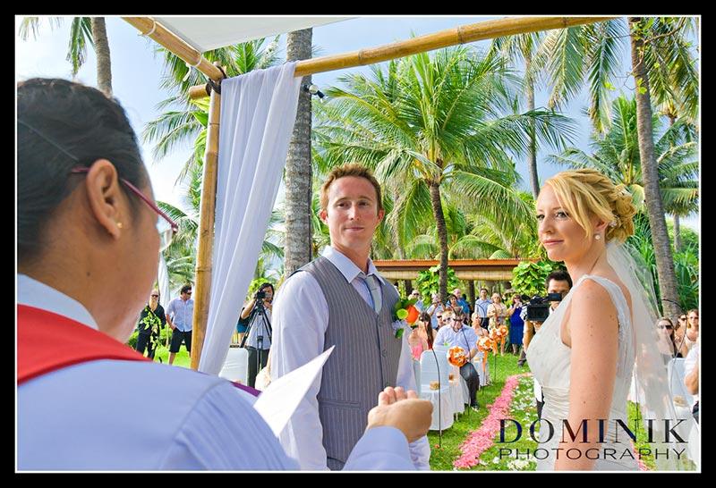 Bali wedding altar scene