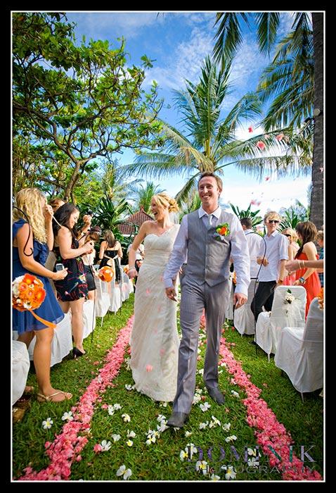 Bali wedding scene
