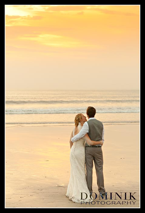 Bali sunset wedding photo