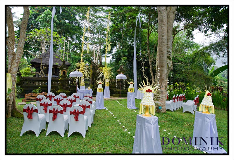 setup for an Indian wedding in Ubud Bali