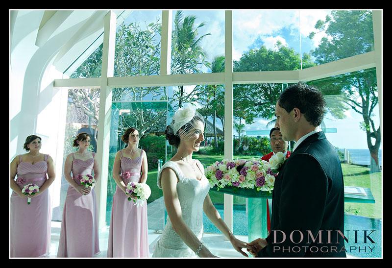 Bali chapel wedding photo