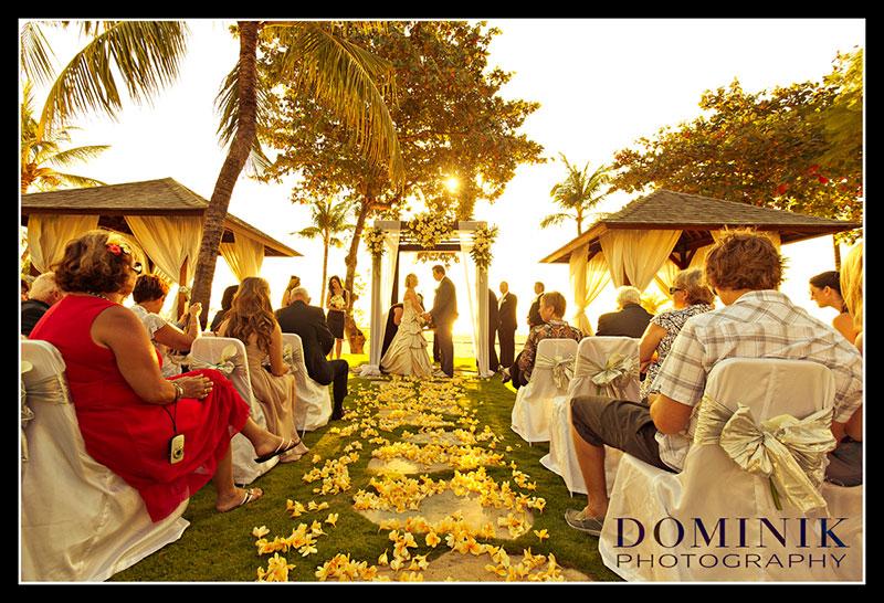 Bali island sunset wedding