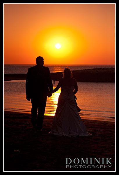 Bali sunset wedding photograph