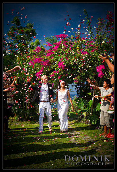 Candid Bali Wedding Photo