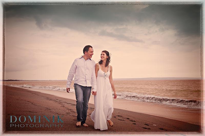 A very wet pre-wedding photo shoot in Bali