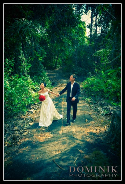 Bali forrest pre wedding photograph