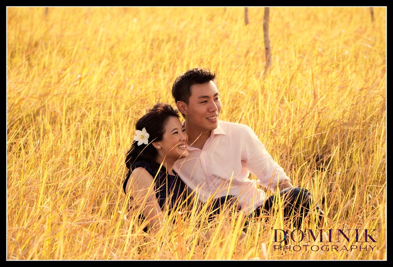 couple in grass land in Bali
