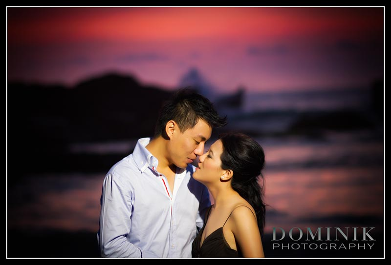 romantic sunset pre wedding in Bali