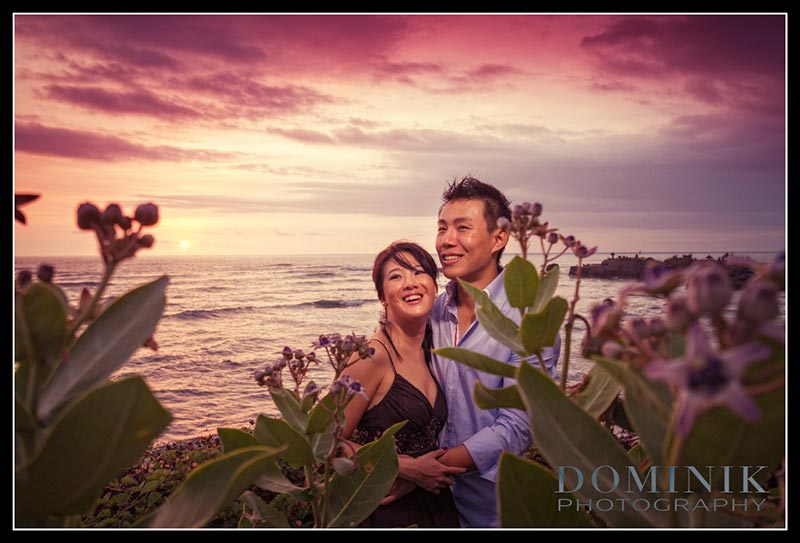 sunset pre wedding in Bali