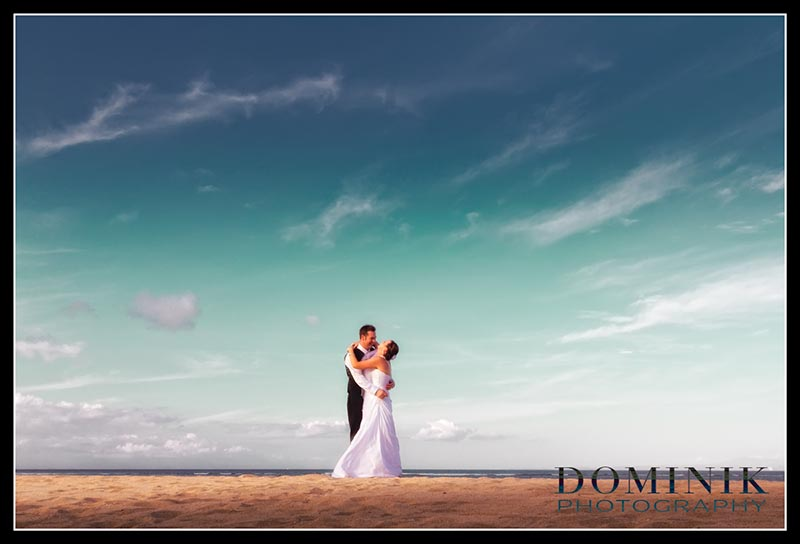 Conrad Infinity wedding beach photo