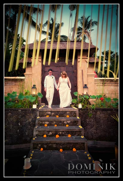 Ubud Bali Buddhist wedding photo