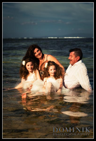 family in the water photo