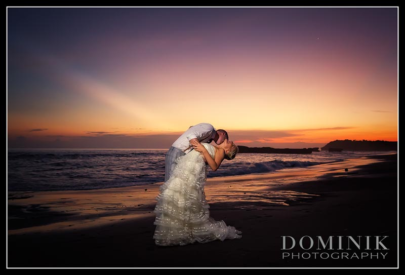 sunset wedding photo of sam n mike