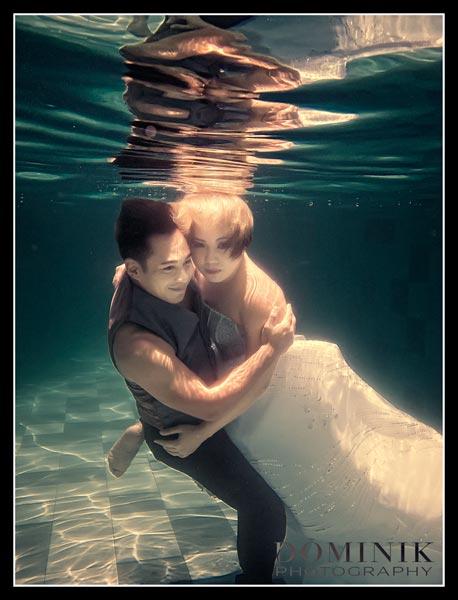 pre wedding underwater