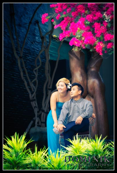 pre wedding with flowers