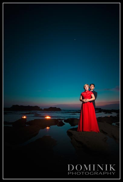fire pre wedding photo
