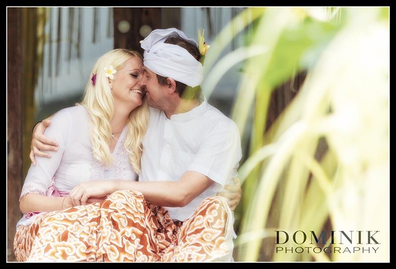 romantische Heirat in Bali