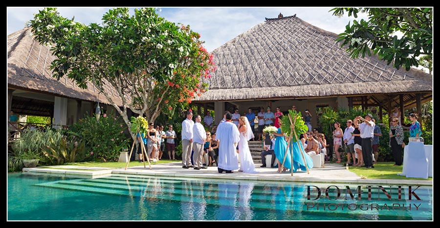 villa wedding in Bali